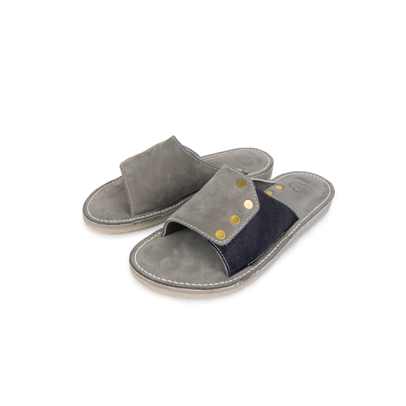Slide Brass Rivet Sandal